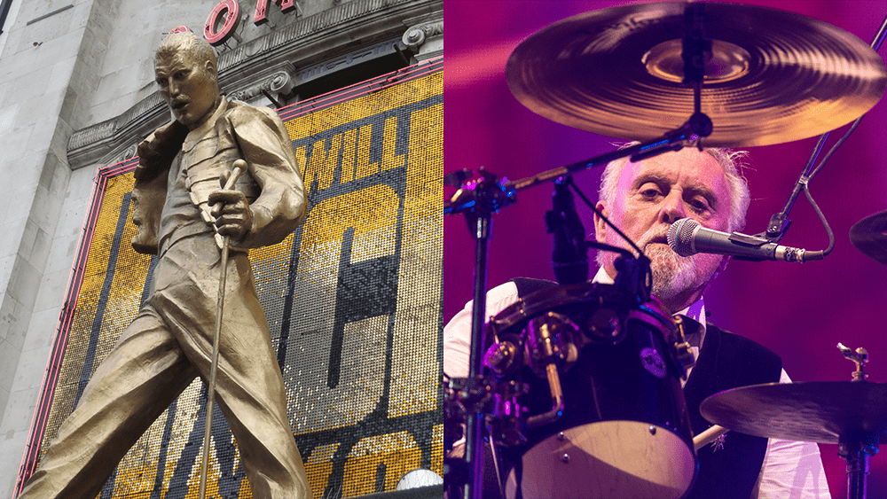 freddie mercury statue and roger taylor
