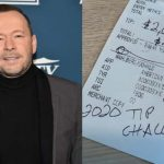 Donnie Wahlberg Starts the New Year by Tipping Server $2,020