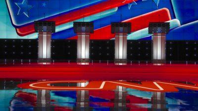 Democratic Presidential Candidates Face Off In Debate In Las Vegas