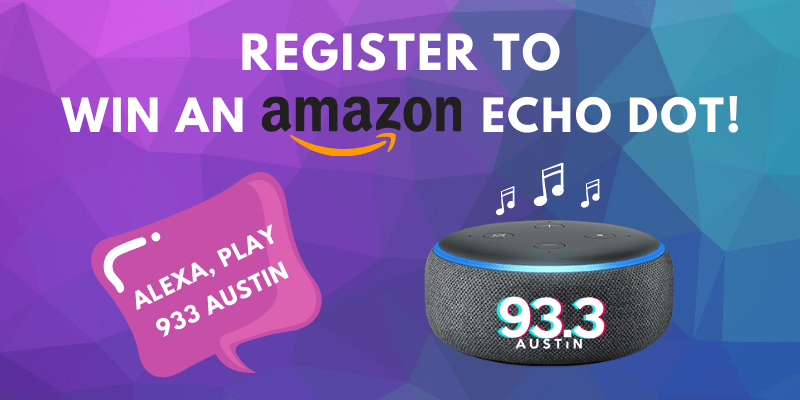 Register to win an amazon echo dot!