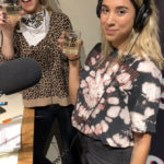 Bailey and Ariana cheersing to Fierce Fridays with Iron Wolf cocktails
