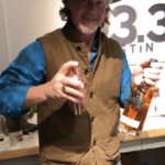 Jordan from Iron Wolf shaking up the Mocha Scotchy cocktail