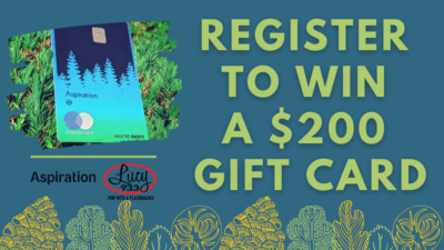 Win a $200 Visa Gift Card from Aspiration!
