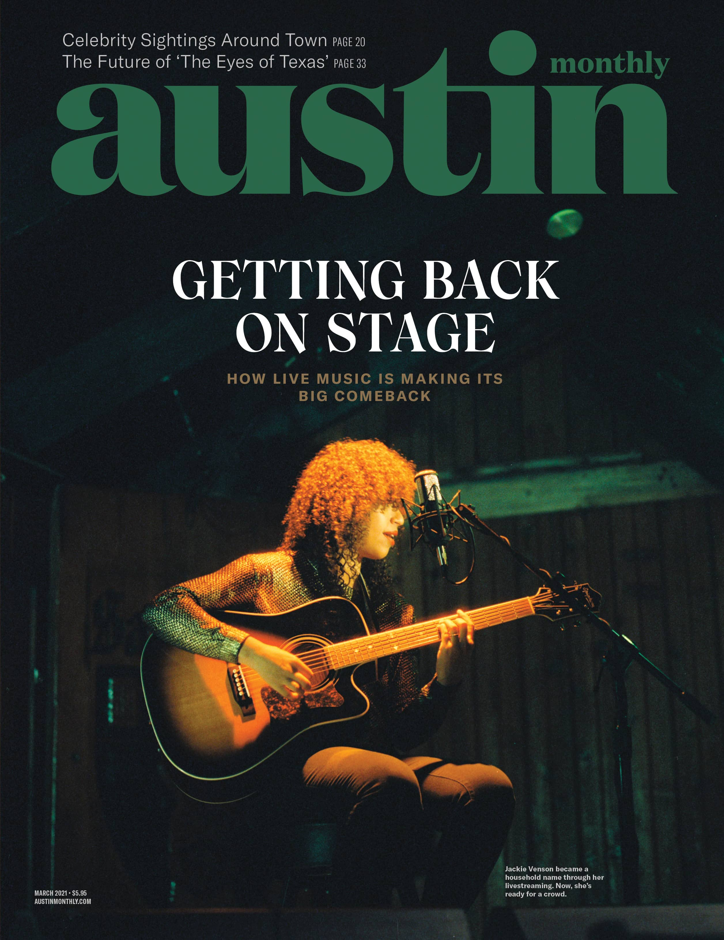 jackie-venson-Austin-Monthly-cover getting back on stage