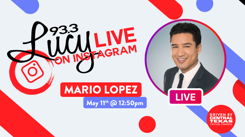 Lucy Live on Instagram with Mario Lopez