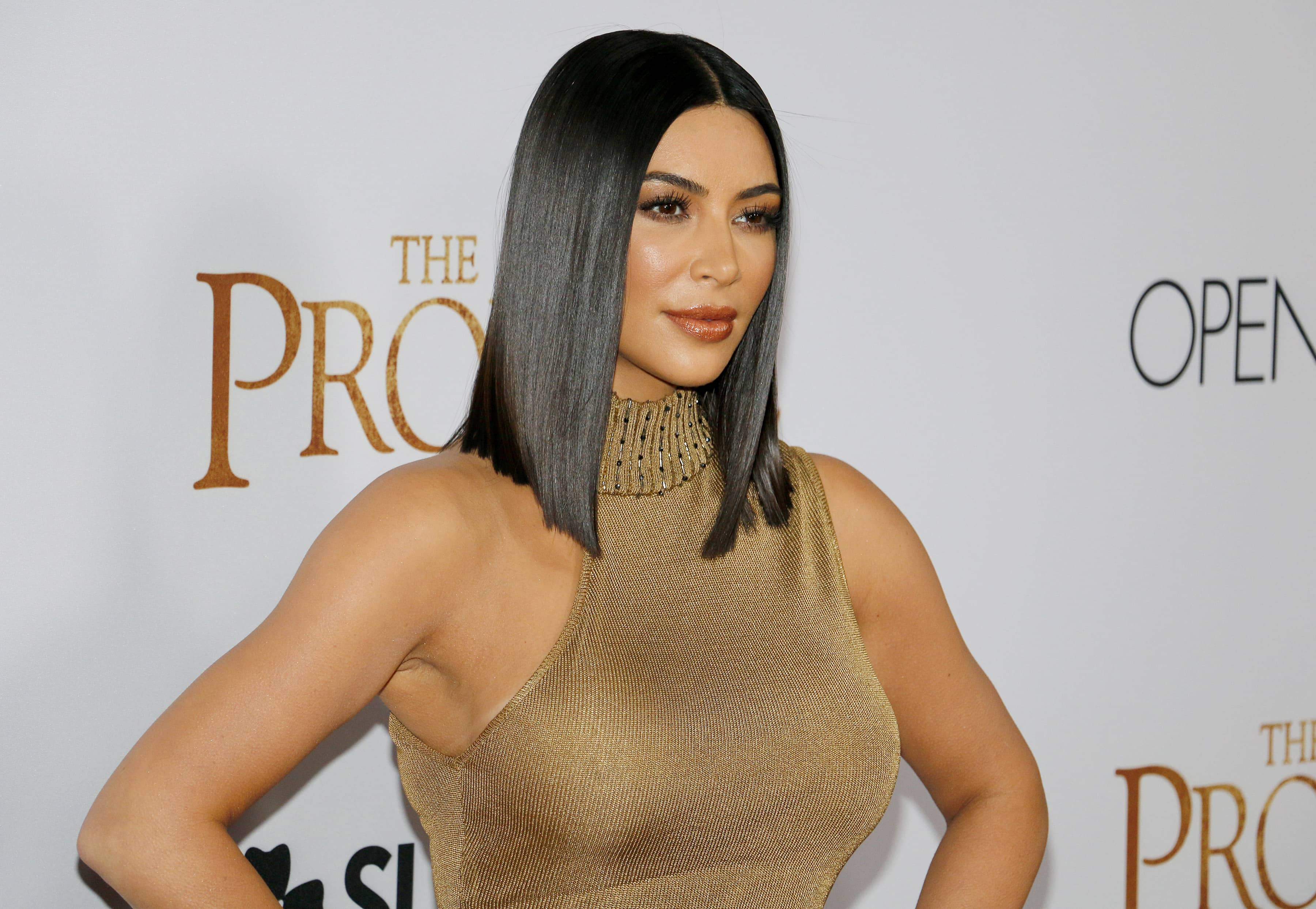 Kim Kardashian West at the Los Angeles premiere of 'T