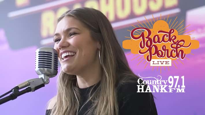 Abby Anderson on 97.1 HANK FM's Back Porch LIVE presented by Texas Roadhouse