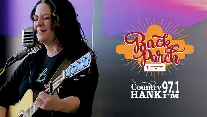 Ashley McBryde on the Texas Roadhouse Back Porch Live at 97.1 HANK FM