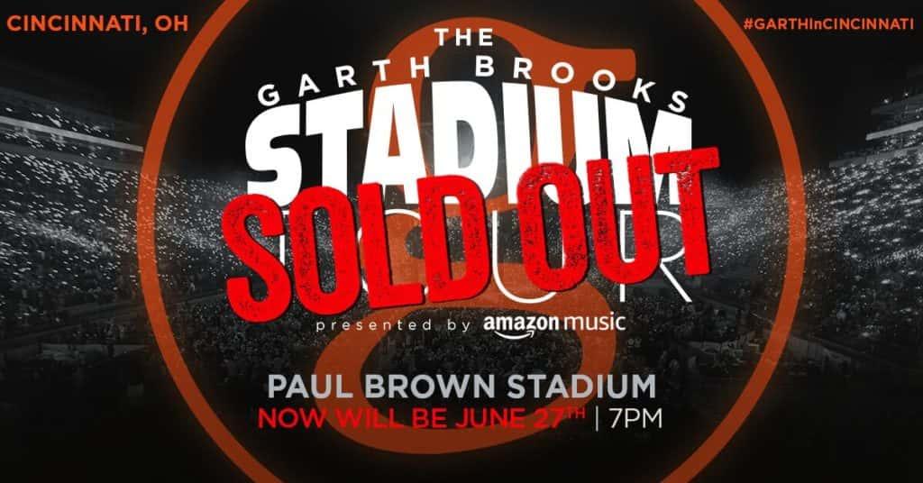 garth brooks sold out stadium tour
