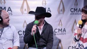Cody Johnson talks with Ryan Wild and Cara at the CMA Awards