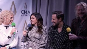 Little Big Town talks at the CMA Awards