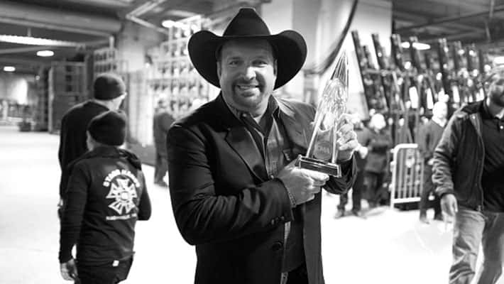 Garth Brooks backstage at the 53rd annual CMA Awards at the Bridgestone Arena on November 13, 2019 in Nashville, Tennessee