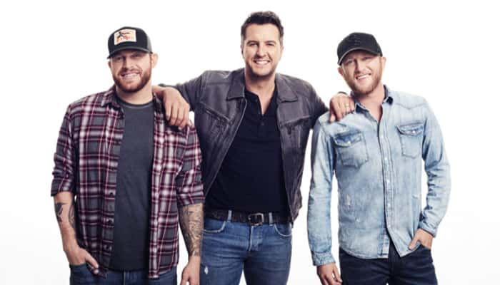 Jon Langston, Luke Bryan, and Cole Swindell