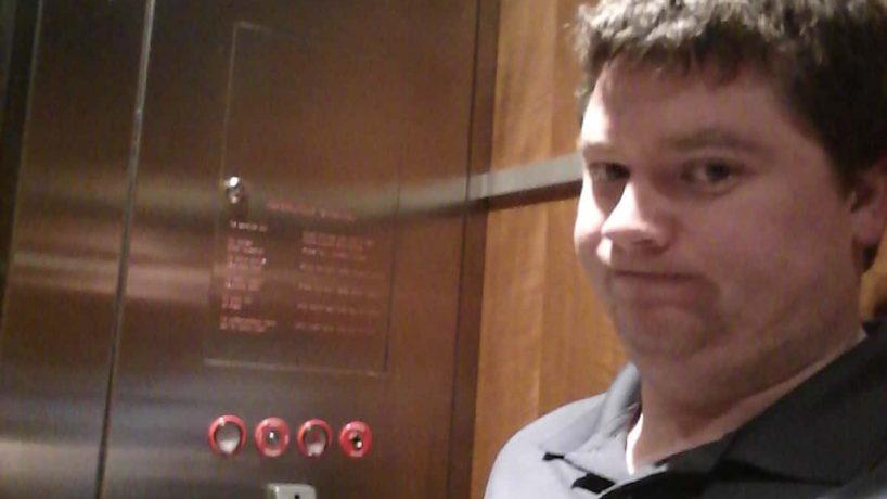 Casey on Elevator