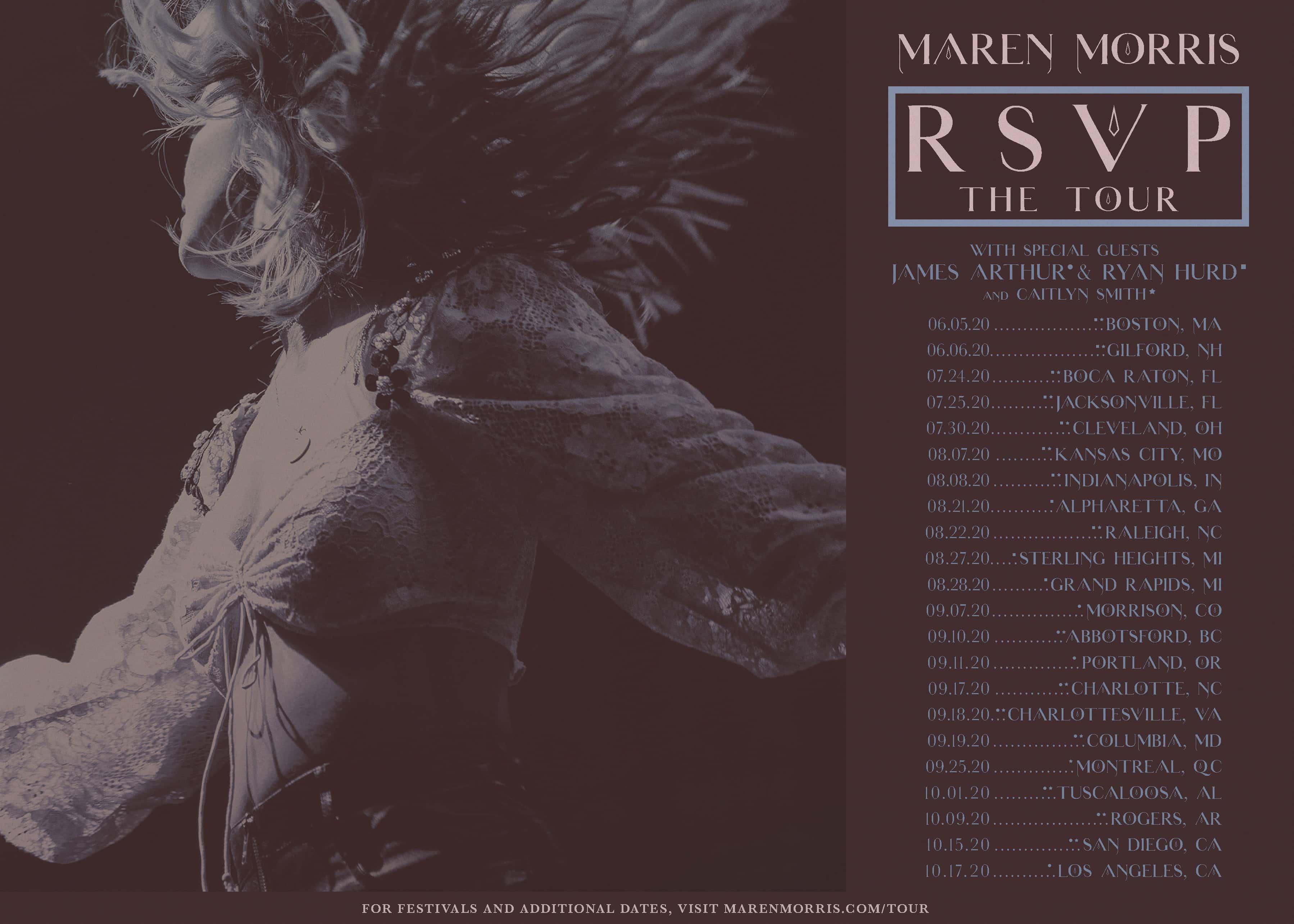 Maren Morris (on Left) with her RSVP Tour Dates