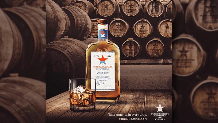 bottle of Redneck Riviera Whiskey, taste america in every drop, #drinkamerican