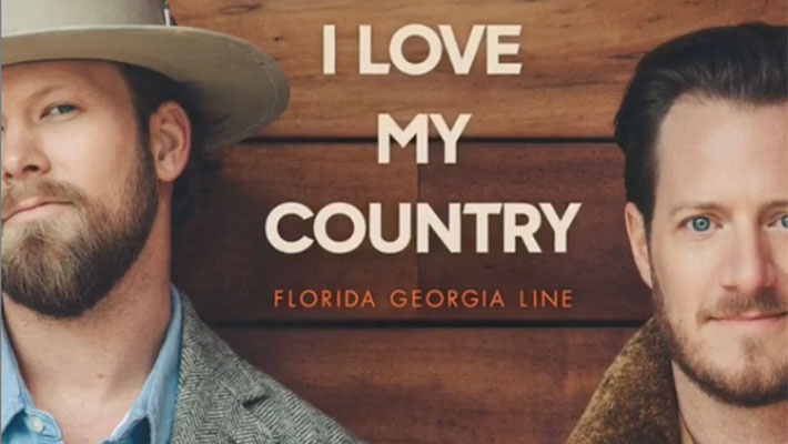 "Cover art for Florida Georgia Line's ""I Love My Country"" song"