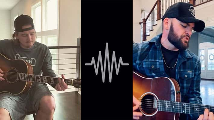 Morgan Wallen and Chris Lane participate in the Demo Challenge