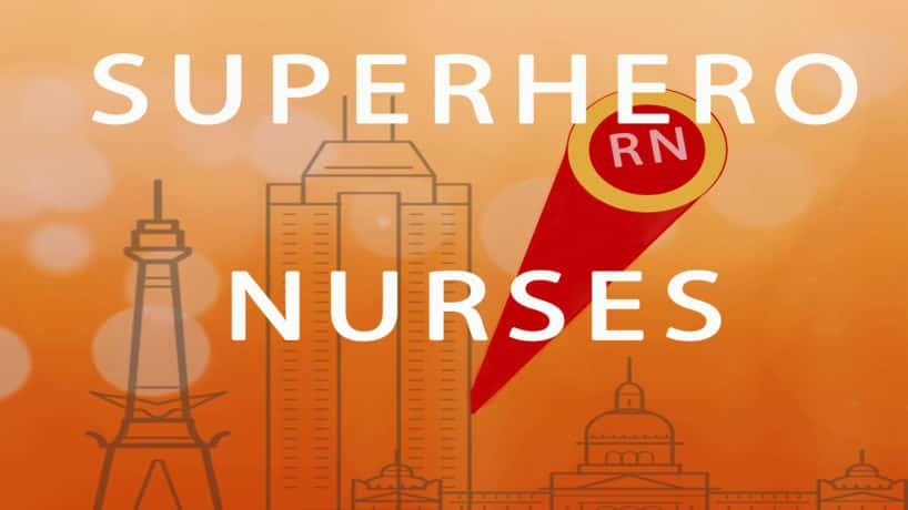Superhero Nurses over Indianapolis