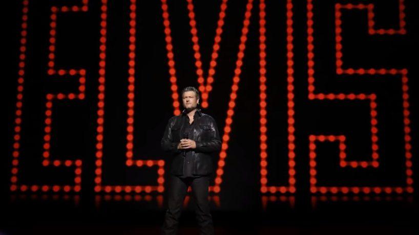 Blake Shelton with Elvis Background