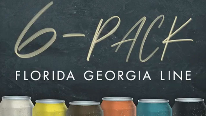 "Cover art for Florida Georgia Line's ""6-Pack"" EP"