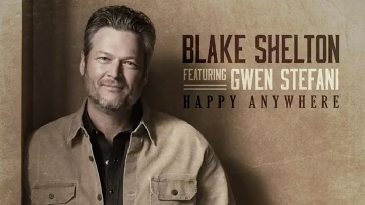 """Cover art for Blake Shelton's """"Happy Anywhere"""" ft. Gwen Stefani"""