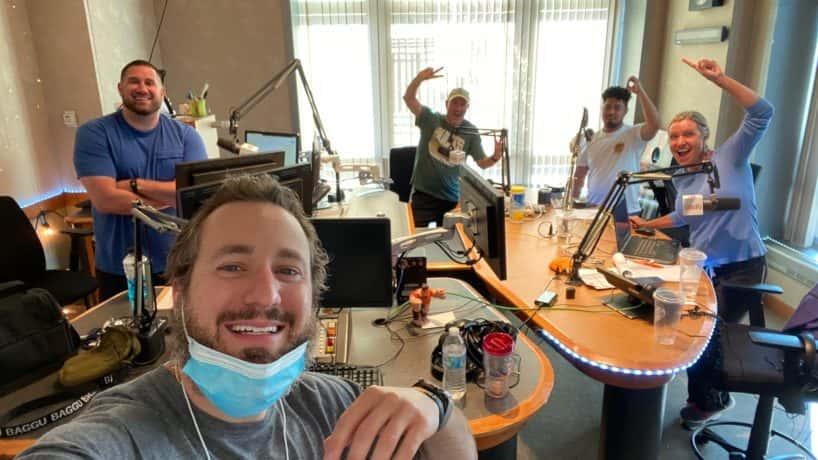 The HANK -FM gang in the Studio