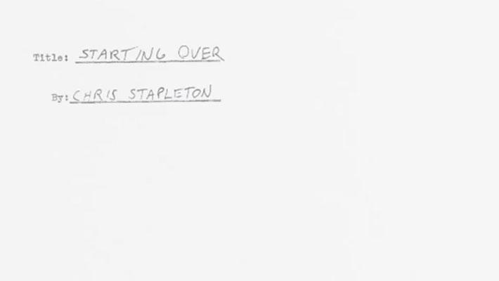 """Cover Art for Chris Stapleton's """"Starting Over"""""""