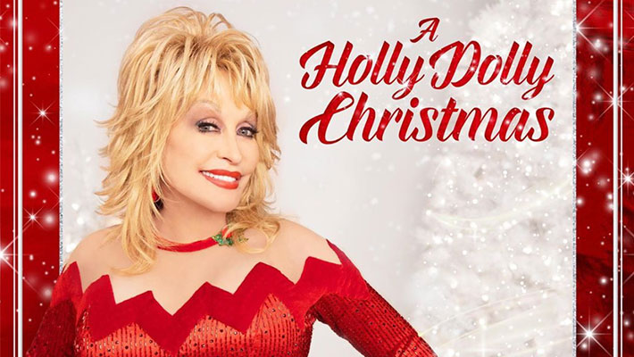 "Cover art for Dolly Parton's ""A Holly Dolly Christmas"" Album"