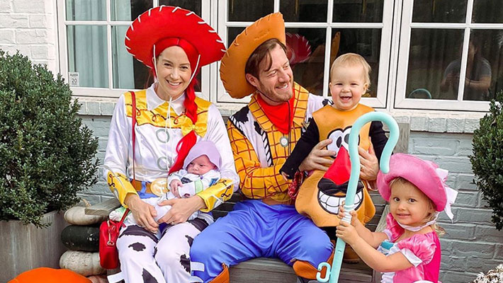 "The Hubbard family dressed up as the cast of ""Toy Story"" for Halloween 2020"