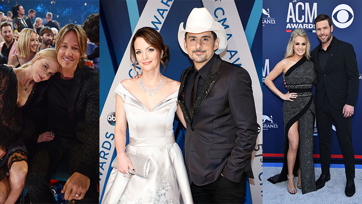 Keith Urban and Nicole Kidman, Brad Paisley and Kimberly Williams-Paisley, Carrie Underwood and Mike Fisher