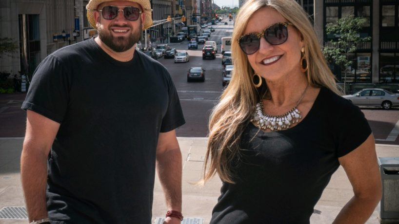 Caleb and Mindy in downtown Indianapolis