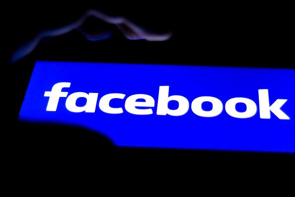 Facebook logo seen displayed