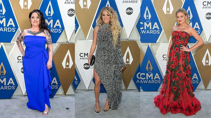 Ashley McBryde, Carrie Underwood & Kelsea Ballerini at the 2020 CMA awards
