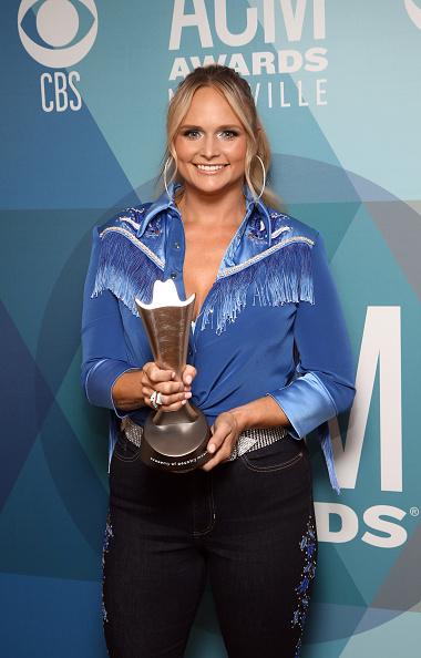 Miranda Lambert holding award