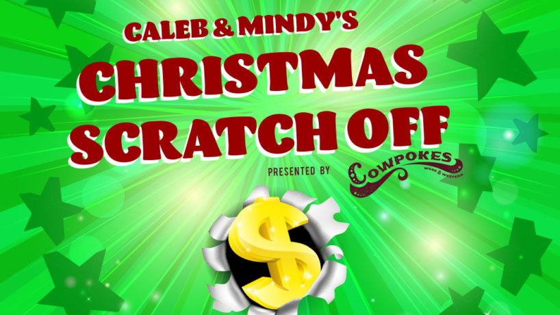 Caleb and Mindy's Christmas Scratch off game with money sign