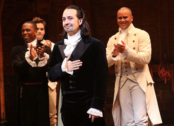 Lin-Manuel Miranda on stage in New York City.