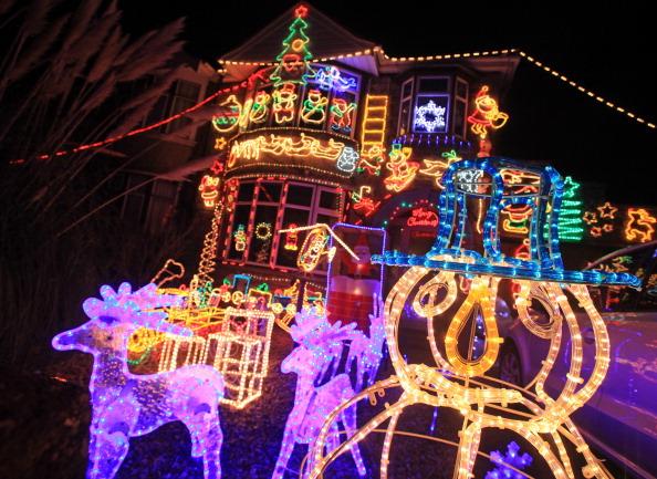 Suburbia Lights Up For Christmas