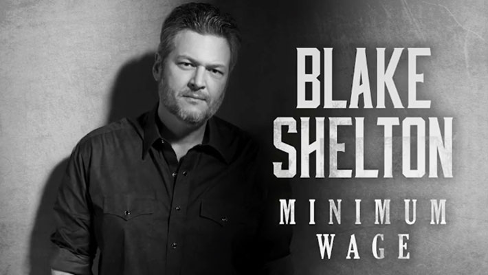 "Cover art for Blake Shelton's ""Minimum Wage"""