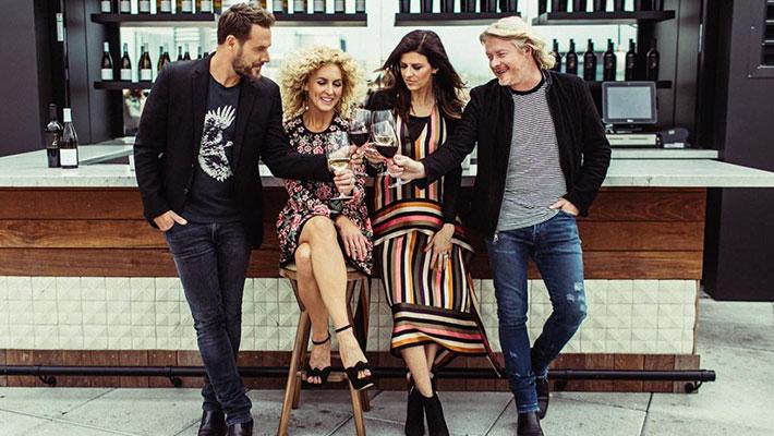 Little Big Town drinking their Four Cellars wine