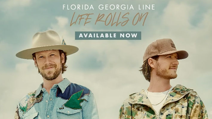 "Cover art for Florida Georgia LIne's ""Life Rolls On"" Album"