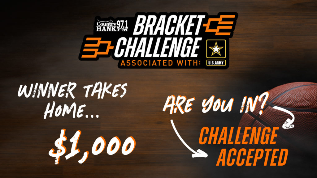 March Maddness presented by the U.S. Army and the grand winner takes home $1,000 and there is a basketball in the corner