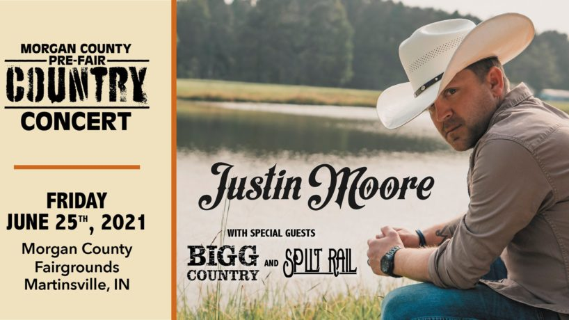 Justin Moore at the Morgan County Fair