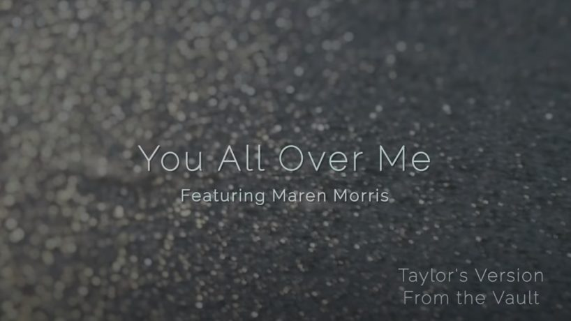 'You All Over Me' title on pavement