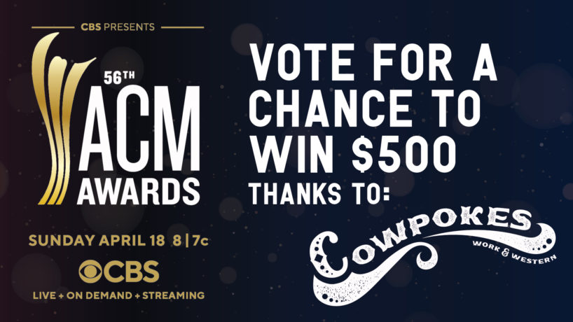 ACM Award Contest Presented by Coowpokes, Vote for your predictions for your chance to win $500