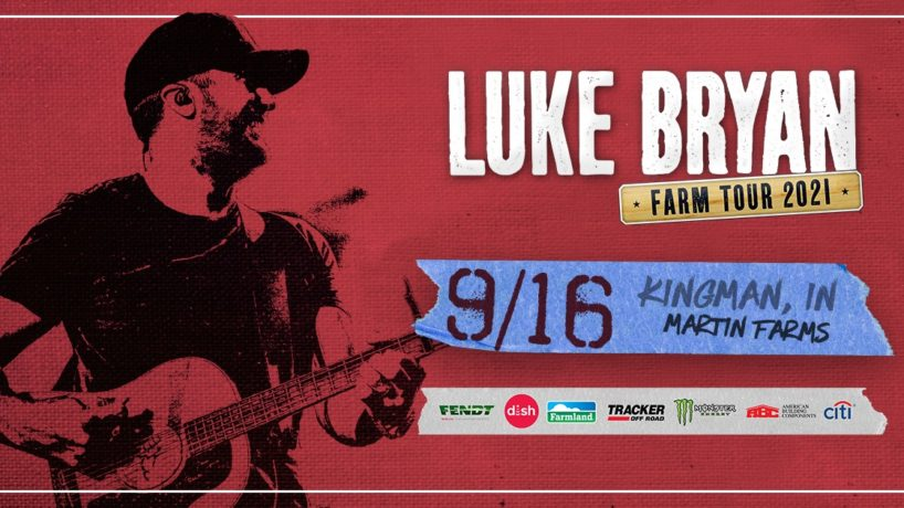 Luke Bryan all red and black , for farm town tour