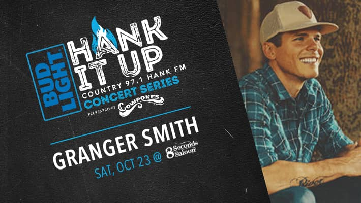 Granger Smith at 8 seconds saloon on october 23