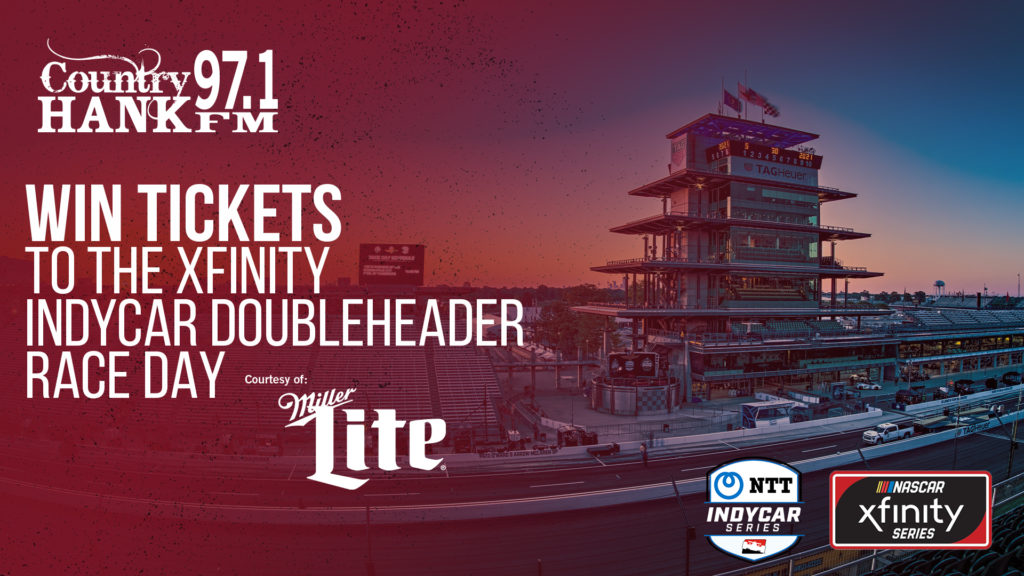 Indianapolis Motor Speedway Pagoda Win tikcets to the xfinity indycar double header courtesy of miller lite