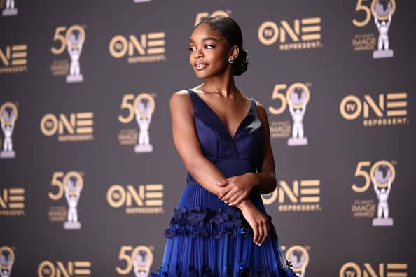 Marsai Martin attends the 50th NAACP Image Awards at Dolby Theatre on March 30, 2019 in Hollywood, California.