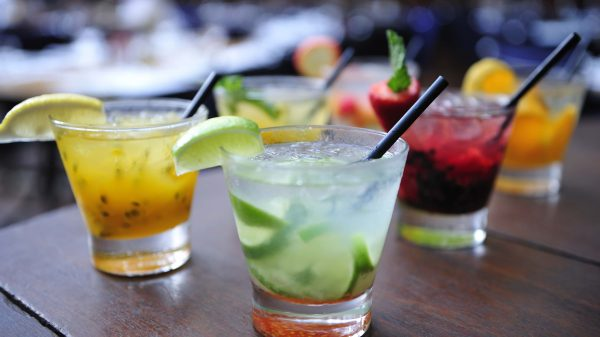 Cocktails with fruit